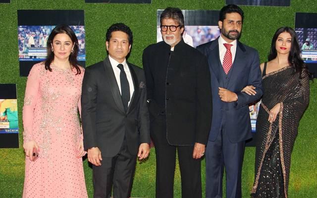 Sachin Tendulkar and Amitabh Bachchan
