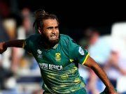 Imran Tahir of South Africa