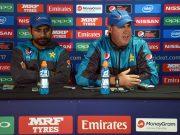 Pakistan coach Mickey Arthur and captain Sarfraz Ahmed