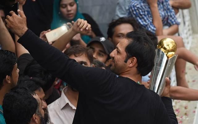 Pakistani cricket captain Sarfaraz Ahmed