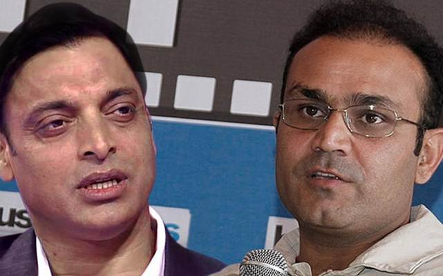 Virender Sehwag and Shoaib Akhtar