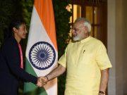 Smriti Mandhana and Narendra Modi
