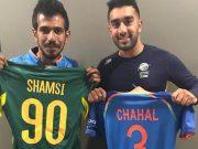 Tabraiz Shamsi and Yuzvendra Chahal