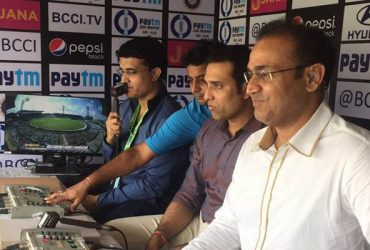 VVS Laxman, Virender Sehwag and Sourav Ganguly in the commentary box