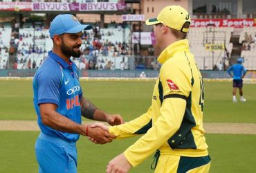 Virat Kohli shakes hands with the Aussie skipper Steve Smith News India