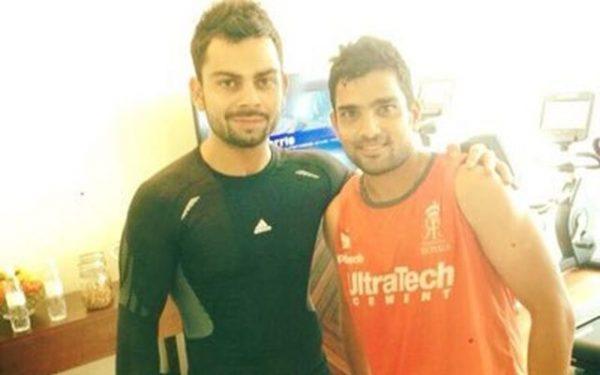 Dishant Yagnik with Virat Kohli