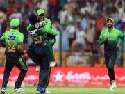 Pakistan hug the hat-trick hero Fahim Ashraf