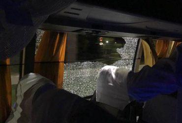 Australian team bus rock