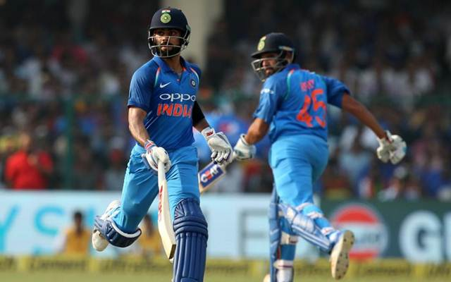 Rohit Sharma and Virat Kohli run between wickets India