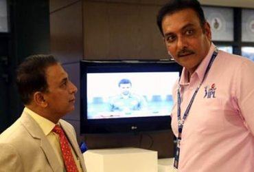 Sunil Gavaskar and Ravi Shastri