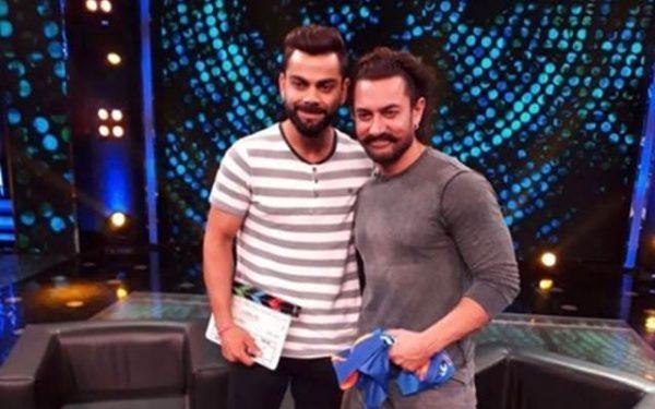 Virat Kohli and Aamir Khan