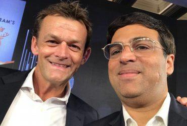 Adam Gilchrist and Vishwanathan Anand