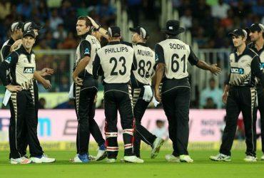 New Zealand team v India