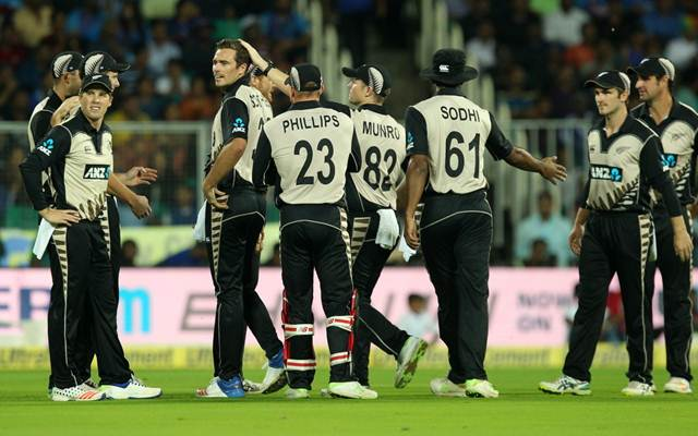 New Zealand team v India | CricTracker.com