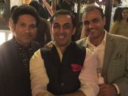 Rohan Gavaskar, Sachin Tendulkar and Virender Sehwag