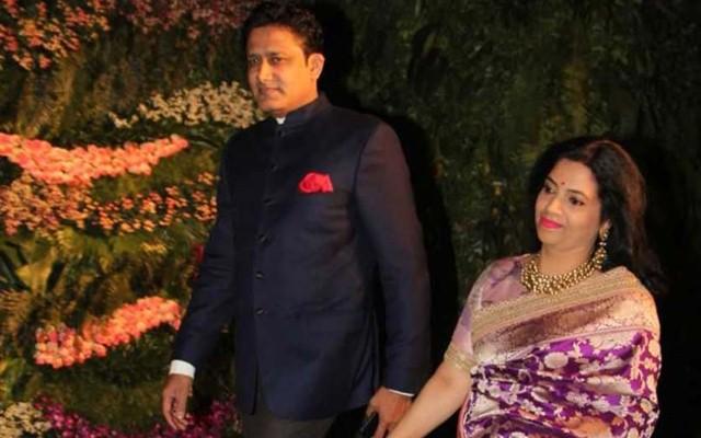 Anil Kumble & his wife