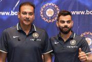 Ravi Shastri and Virat Kohli