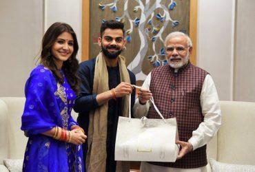 Virat Kohli & Anushka Sharma with Narendra Modi
