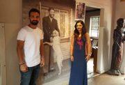 Ajinkya Rahanewith his wife Radhika Dhopavkar at Nelson Mandela's home