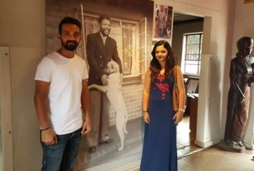 Ajinkya Rahanewith his wife Radhika Dhopavkar at Nelson Mandela's home