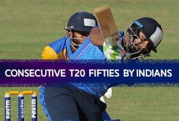 Consecutive T20 fifties by Indians
