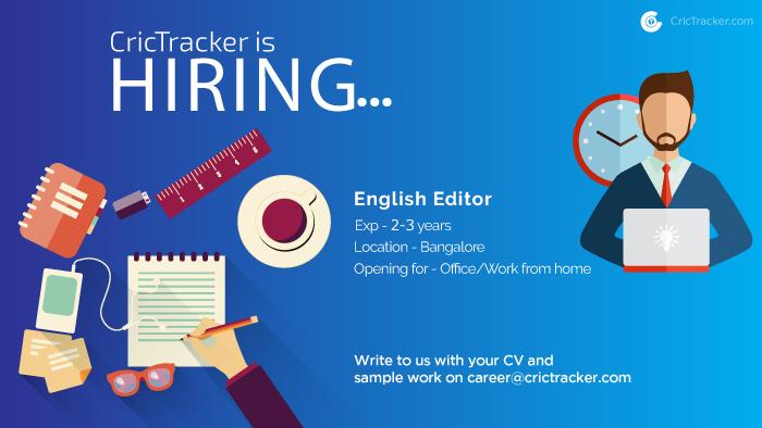 CricTracker Hiring English Editor