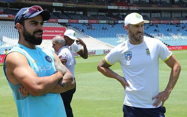 Faf du Plessis & Virat Kohli   CricTracker.com