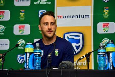 Faf du Plessis press conference News