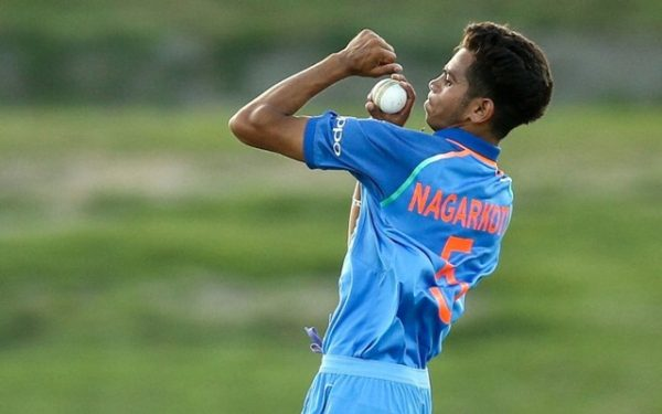 Kamlesh Nagarkoti bowling