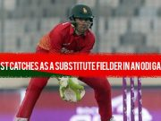 Most catches as a substitute fielder in an ODI