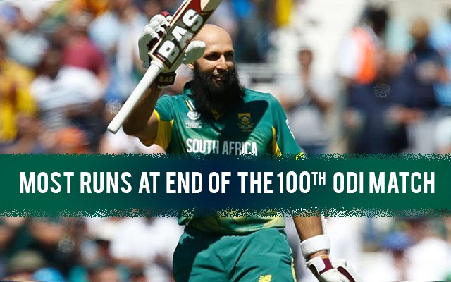 Most Runs at the End of 100 ODIs | CricTracker.com