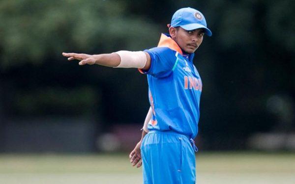 Indian U19 skipper Prithvi Shaw