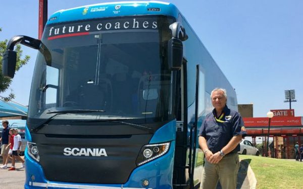 South African team bus driver Andre Krog
