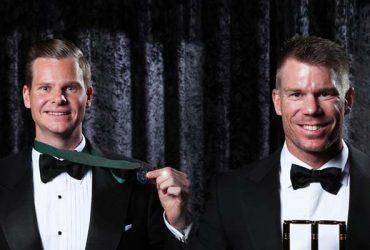 David Warner and Steve Smith of Australia