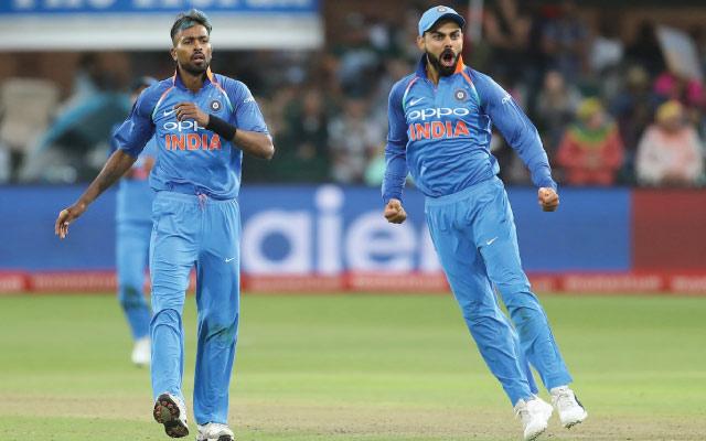 Hardik Pandya and Virat Kohli