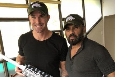 Kevin Pietersen and Sunil Shetty
