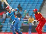 Mohammad Nabi of Afghanistan vs Zimbabwe