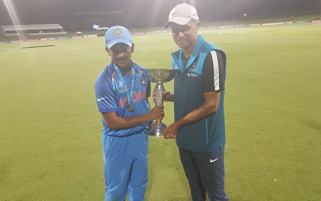 Rahul Dravid and Prithvi Shaw