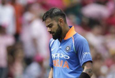 Indian batsman and Captain Virat Kohli leaves the field