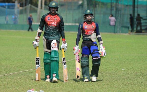 Bangladesh players v Sri Lanka