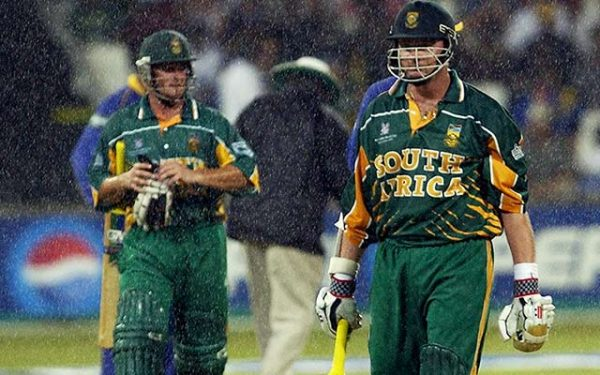 Lance Klusener and Mark Boucher of South Africa