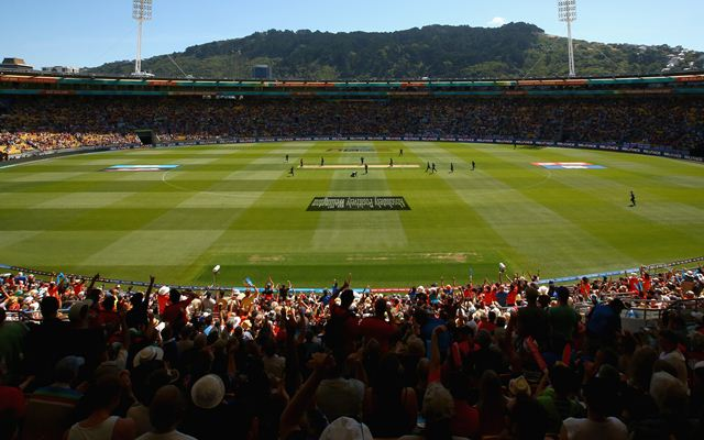 A general view is seen of the ground