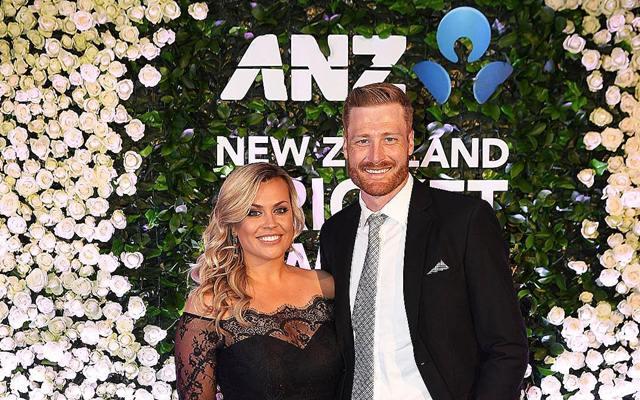 Mr & Mrs Guptill at the NZ cricket awards