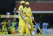 Sam Billings & Ravindra Jadeja of the Chennai Super Kings