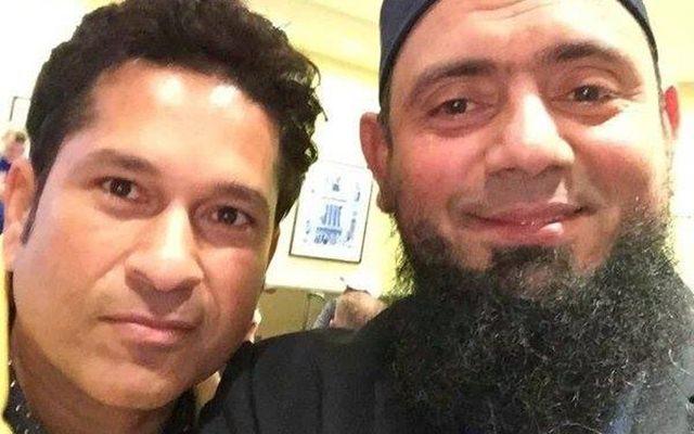 Saqlain Mushtaq and Sachin Tendulkar