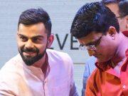 Virat Kohli and Sourav Ganguly