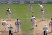 Tom Moores takes a one-handed stunner