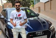 Virat Kohli with the Audi RS 5 Coupe