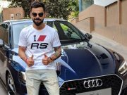 Virat Kohli with the Audi RS 5 Coupe