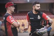 Virat Kohli & Gary Kirsten of the RCB